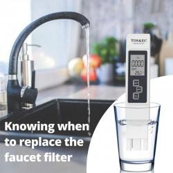 Цифровой тестер якості води White. PH /TDS/ EC